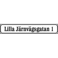 Street sign Ramlösa 72 x 12 cm in White max 20 characters